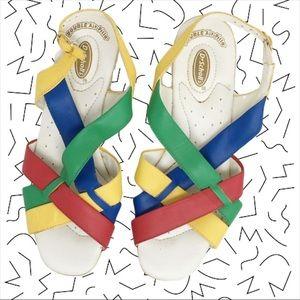 Vintage Shoes | Rad Faux Fur Bejeweled Slip Ons | Poshmark